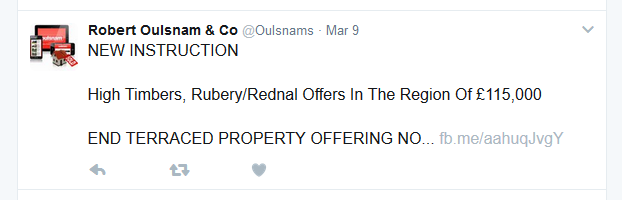 Oulsnam new instruction Tweet