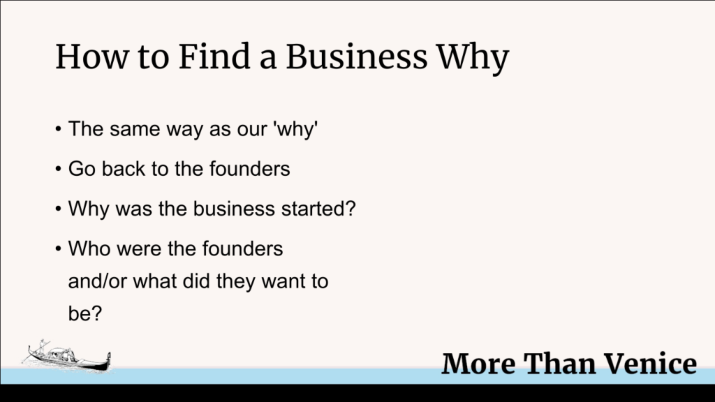how to find a business why presentation slide