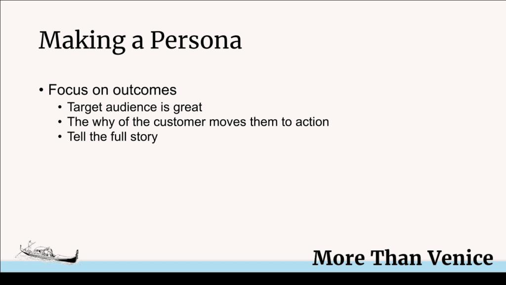 creating customer personae