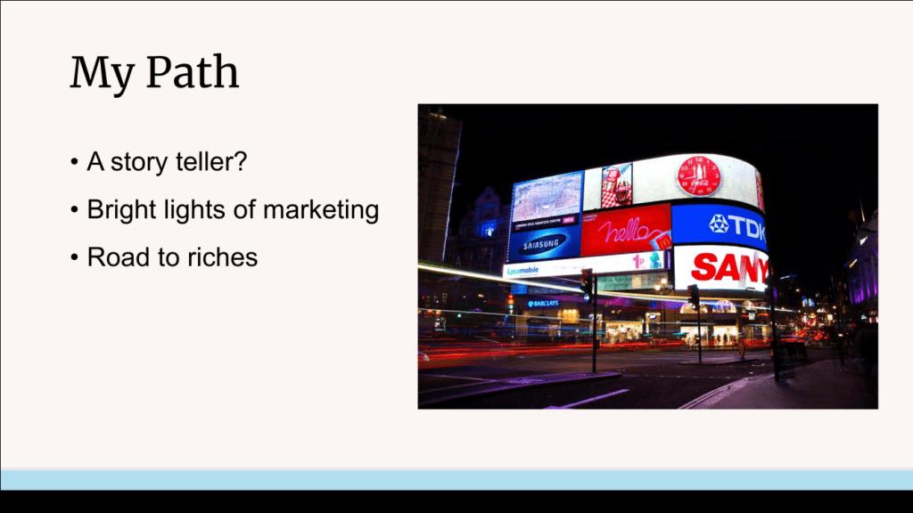 Theodore Bigby's marketing path slide