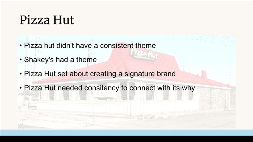 Pizza Hut defining their brand