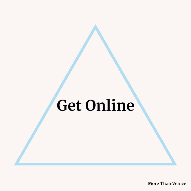 Get Online triangle