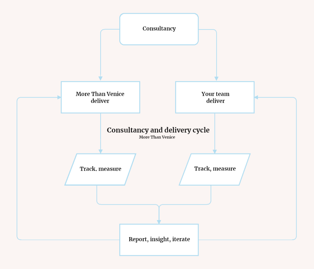 Marketing counsultancy and insight process map